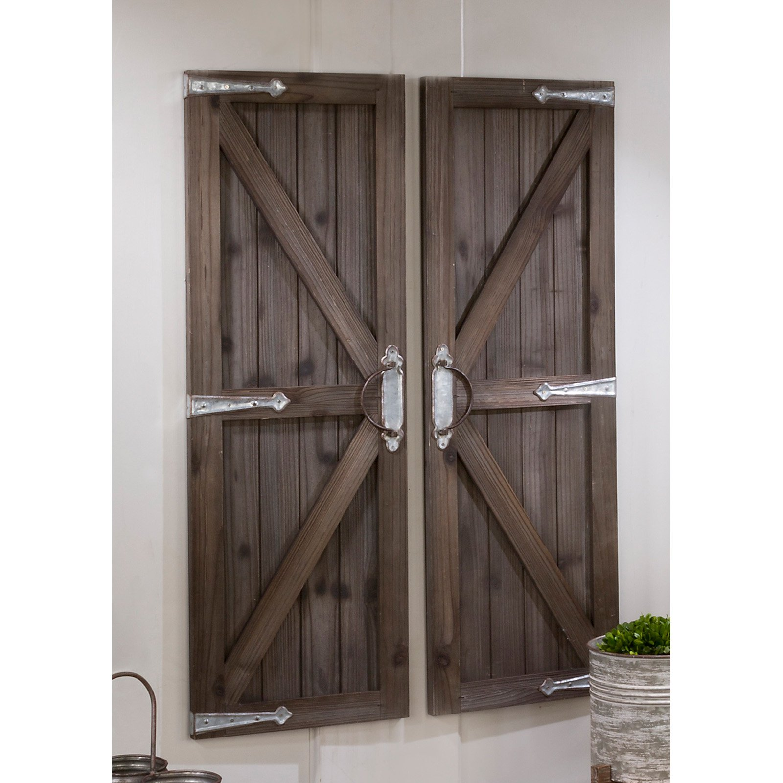 Tripar Barn Door Wall Accent - Set of 2