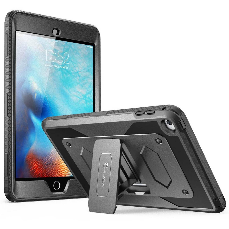 i-Blason iPad Mini4 Armorbox Full Body Kickstand Case w/ Screen Protector, Black