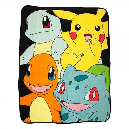 Pokemon Multi Character Lightweight Fleece ThrowBlanket   48 x 60 Inches