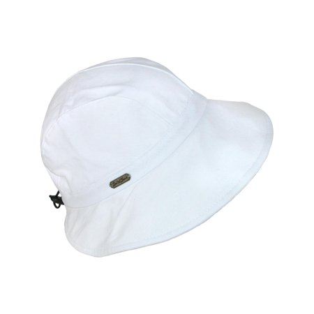 0d7d5e13a Size one size Women's Cotton Packable Facesaver Hat with Adjustable Toggle,  White