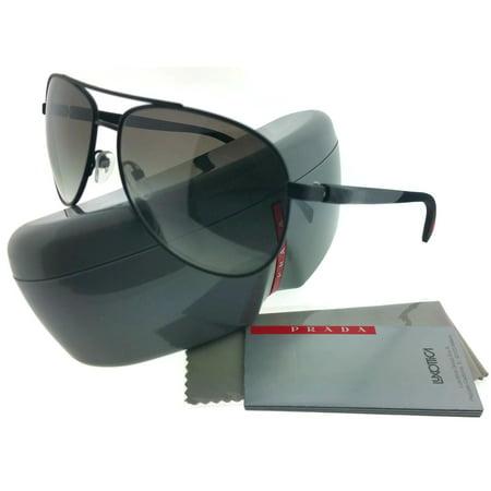 179a17043f Prada PS51OS-DG00A7 Netex Unisex Black Frame Grey Lens Genuine Sunglasses  NWT