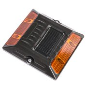 Reusable Revolution Cast Aluminum Commercial Road Stud - Flashing Amber LED's