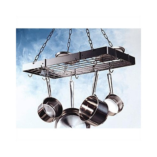 Rogar Rectangular Hanging Pot Rack with Grid
