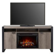 """Dimplex Pierre Media Console Electric Fireplace With Logs for TVs up to 60"""", Steeltown"""