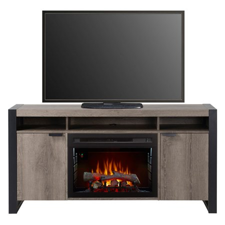 Dimplex Pierre Media Console Electric Fireplace With Logs for TVs up to 60