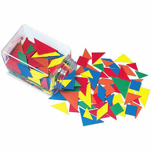 School Smart Tangrams, Assorted Colors, 210 Pieces