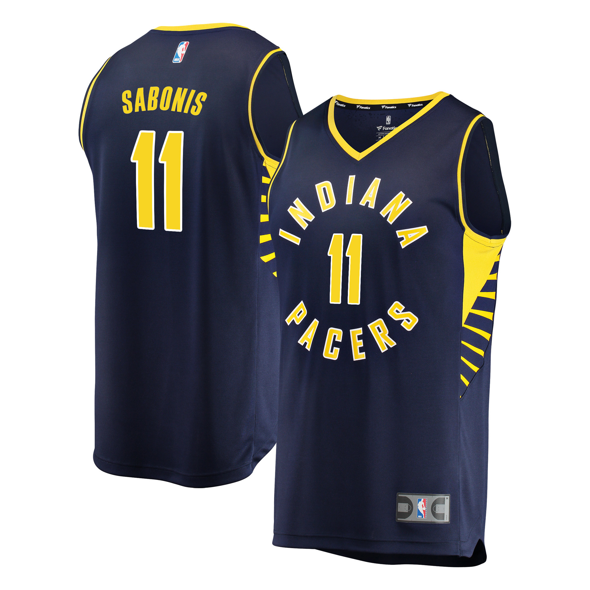 Indiana Pacers Domantas Sabonis Fanatics Branded Youth Fast Break Player Jersey - Icon Edition - Navy