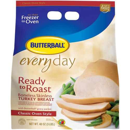 Frozen Butterball Everyday Ready to Roast Boneless Skinless Turkey Breast, 48 oz