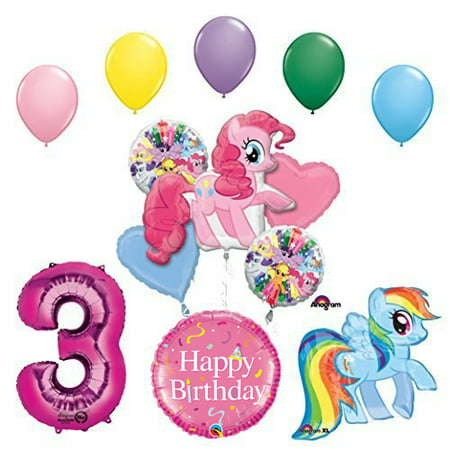 My Little Pony Pinkie Pie and Rainbow Dash 3rd Birthday Party Supplies](Pony Birthday Party)