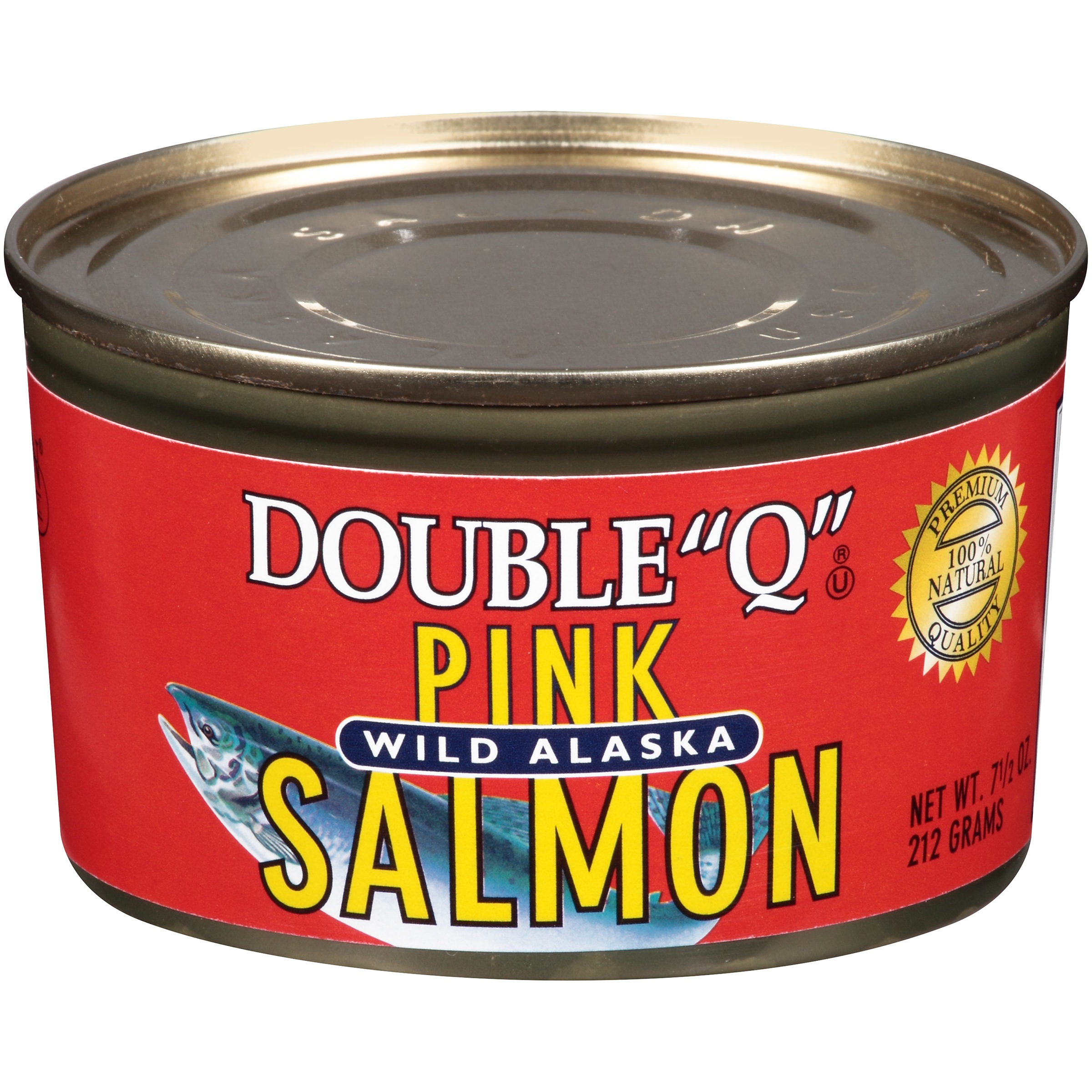 """(3 Pack) Double """"Q"""" Wild Alaskan Pink Salmon, 7.5 oz Can"""