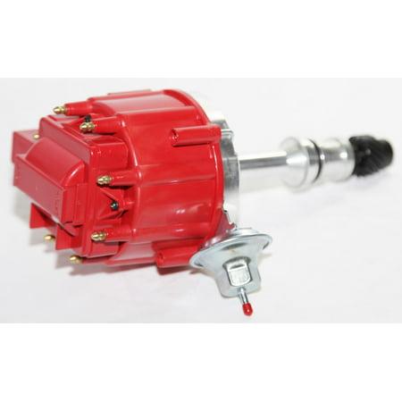 HEI Distributor RED Cap for 68-76 Oldsmobile Rocket V8 455 Engine w/ Vacuum Ref# 260; 307; 330; 350; 400; 403; 425; PE328R; PE328 Engine Vacuum System
