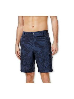 Mens Floral Hybrid Swim Bottom Board Shorts