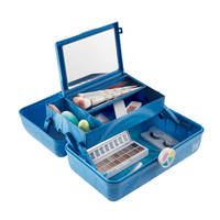 Caboodles Vintage On the Go Girl Classic Makeup Case, Blue