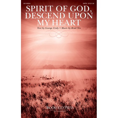 Brookfield Spirit of God, Descend upon My Heart SATB composed by Brad - Making Memories Heart Brads