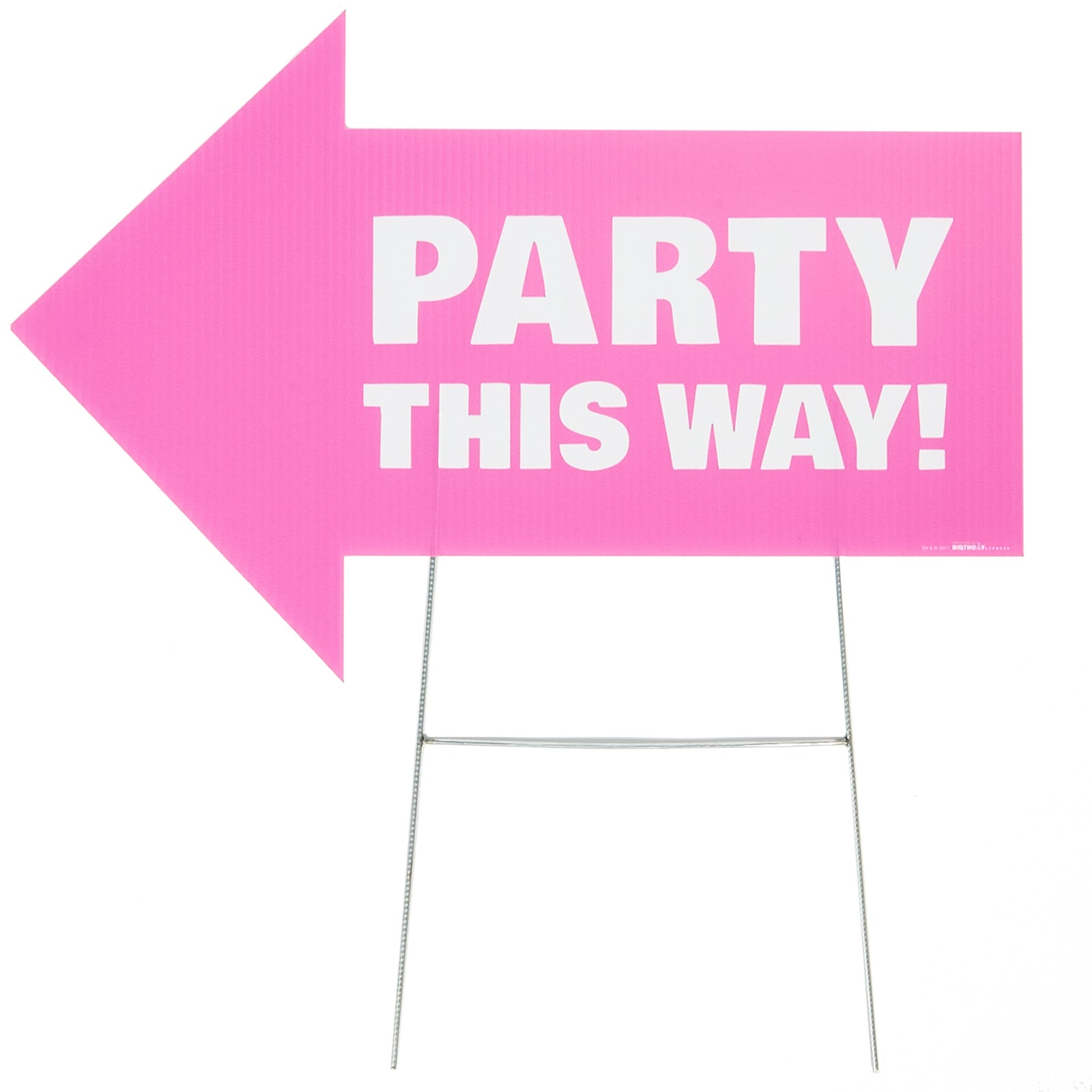 Party This Way Yard Sign-Pink