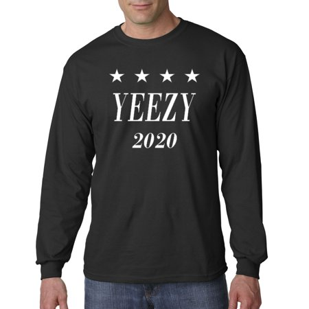 Allwitty 1009 - Unisex Long-Sleeve T-Shirt Yeezy 2020 Kanye West President Election (Kanye West Sonnenbrille)