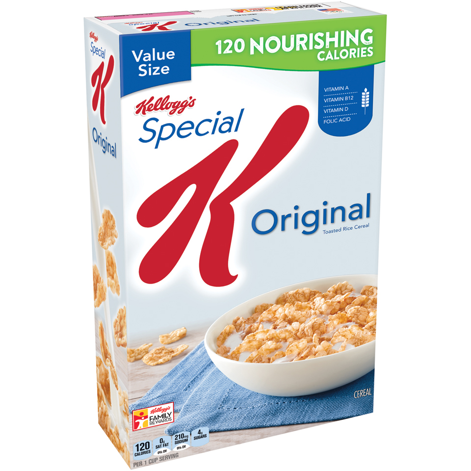 Kellogg's Special K Breakfast Cereal, Original, 18 Oz
