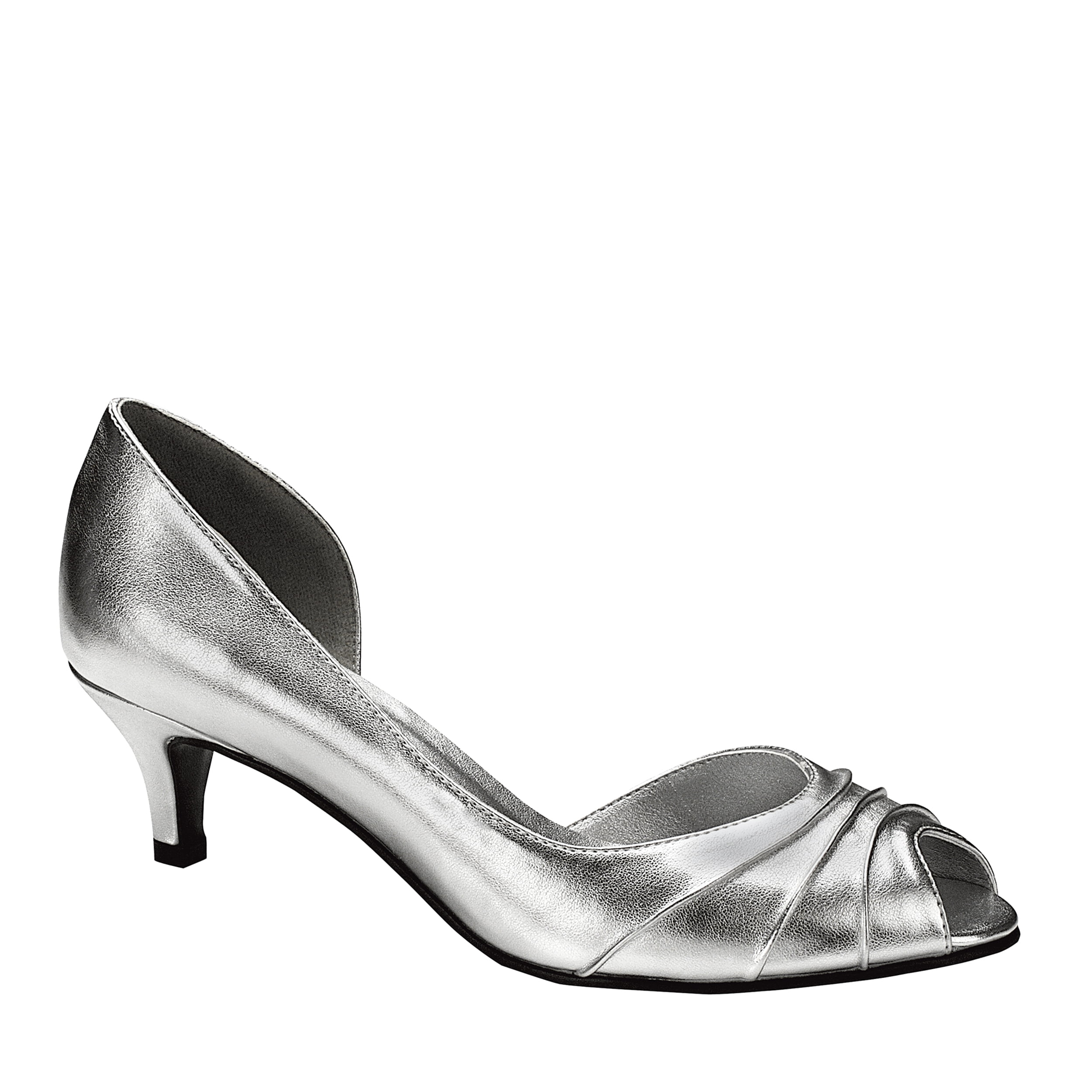Touch Ups Womens Abby Pump,Silver,7 W by