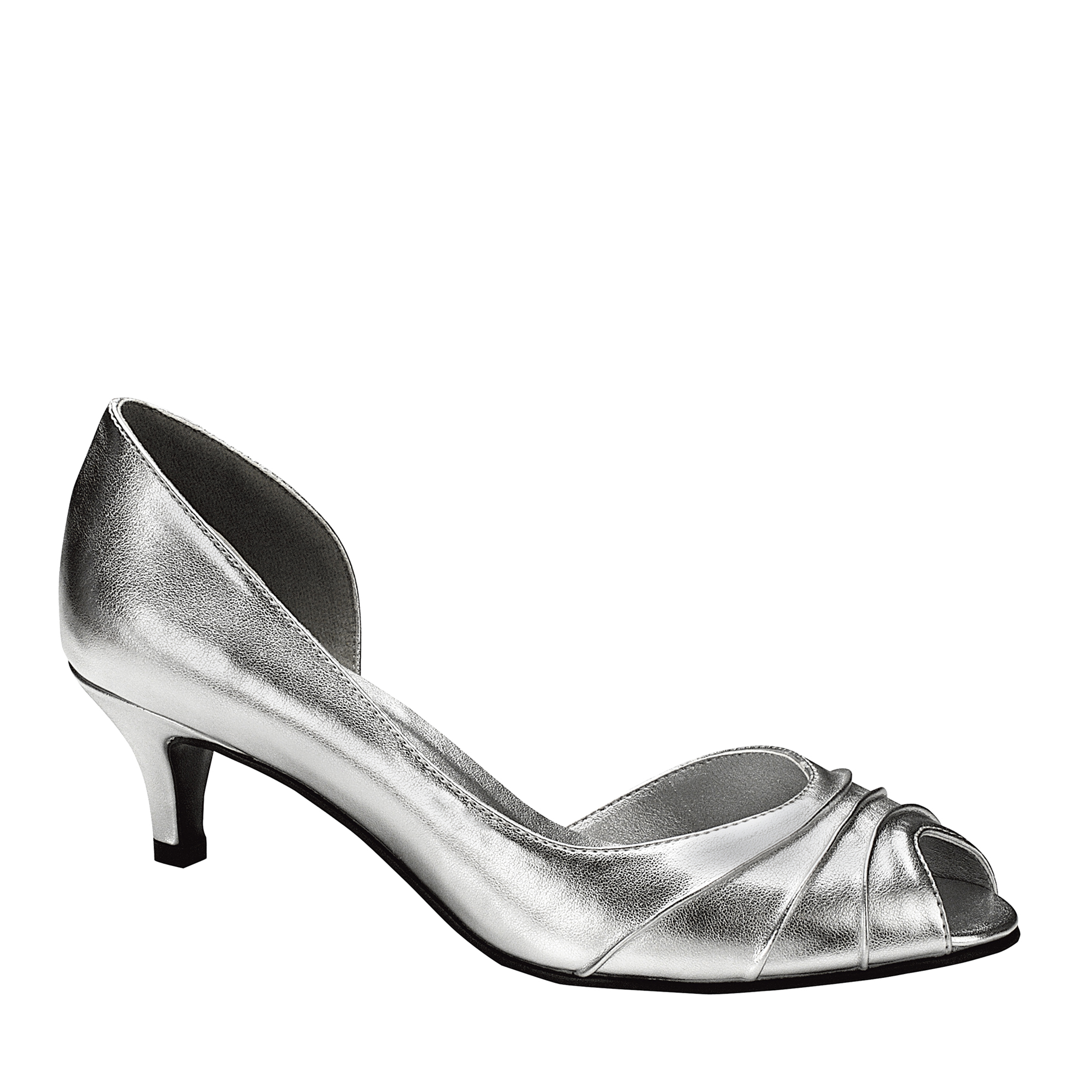 Touch Ups Womens Abby Pump,Silver,9.5 W