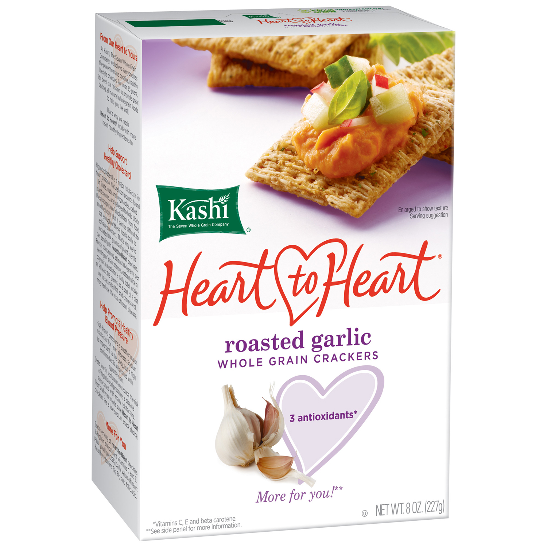 Kashi® Heart to Heart® Roasted Garlic Whole Grain Crackers 8 oz. Box