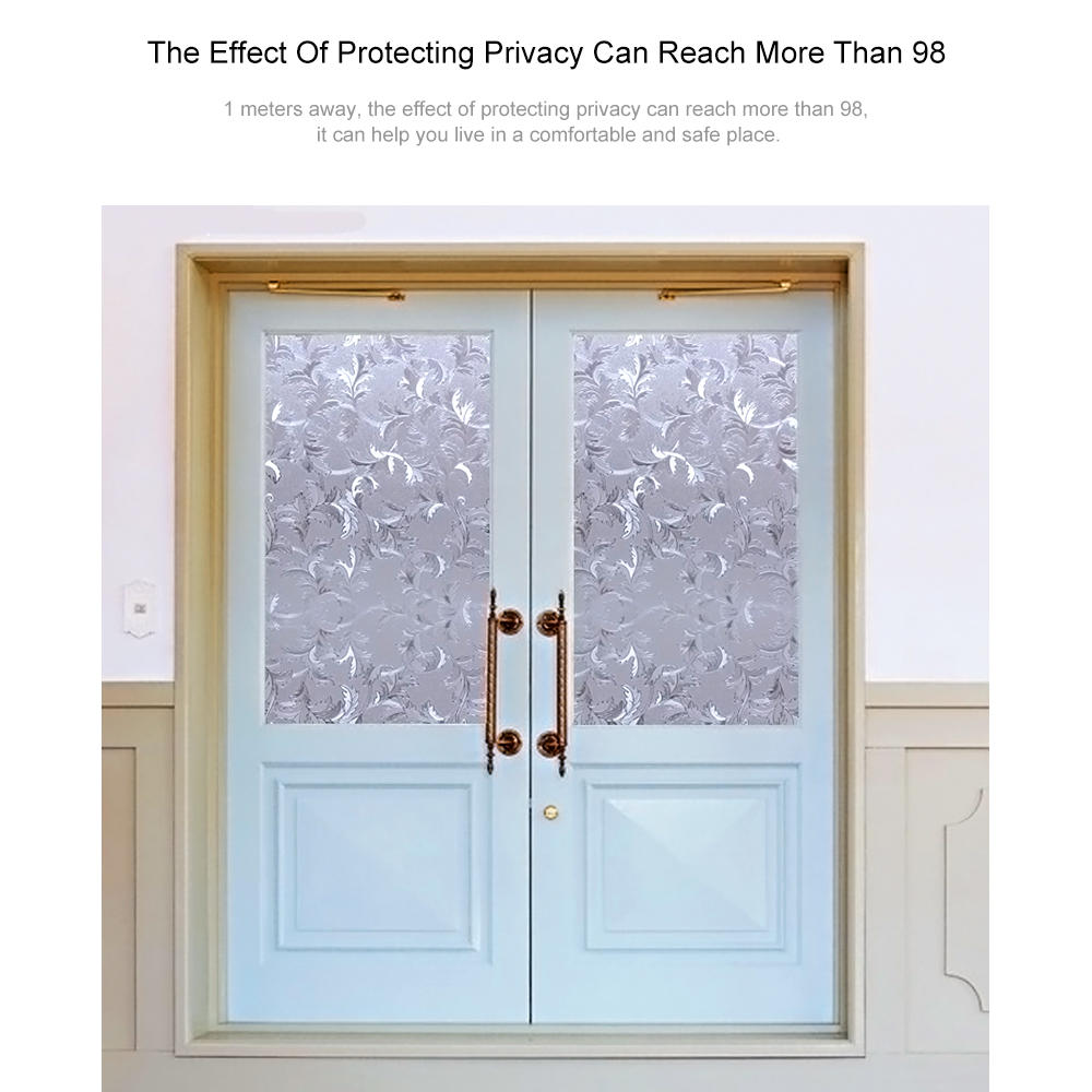 "LIVINGbasics™ 3D Static Decorative Privacy Window Films with Heat Control Anti UV , 24"" x 79"" - image 4 of 5"