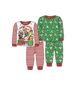 Nickelodeon Toddler Boys' Paw Patrol Holiday 4-Piece Cotton Pajama Set, Present Patrol, 4T