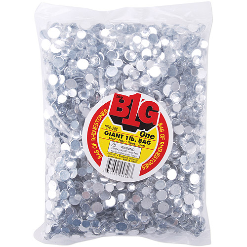 Darice The Big One Bag Of Round Crystal Rhinestones