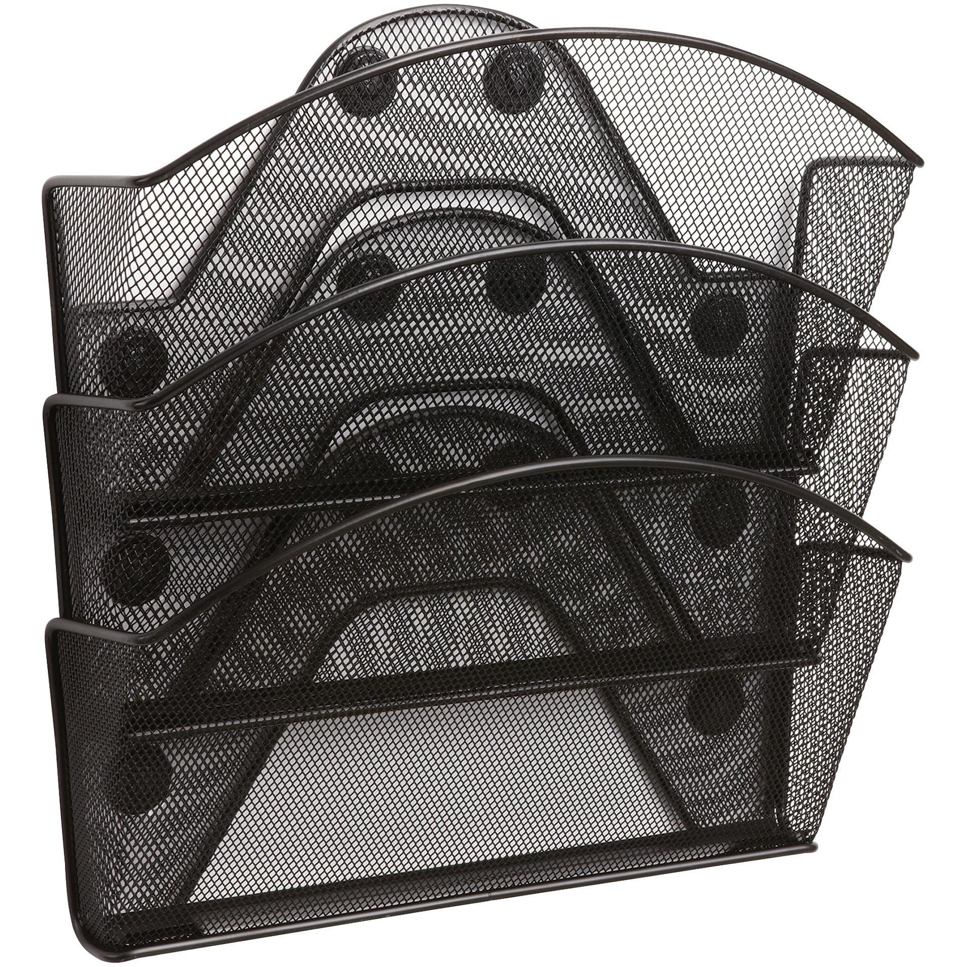 Safco, SAF4175BL, Black Magic Magnetic Triple File Pocket, Black
