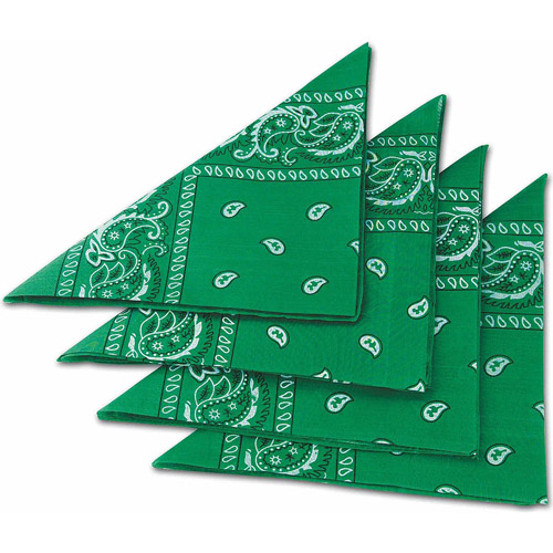 Green Bandanas, Pack of 12