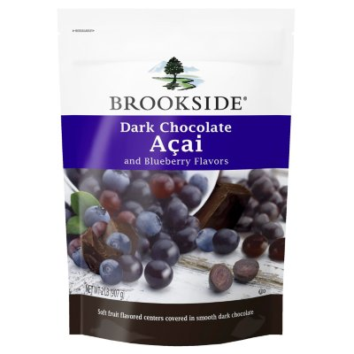 Brookside Dark Chocolate Acai with Blueberry 2 Pounds Resealable Bag [Misc.]