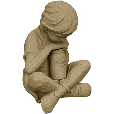 Emsco Group Natural Boy Resin Construction Statuary