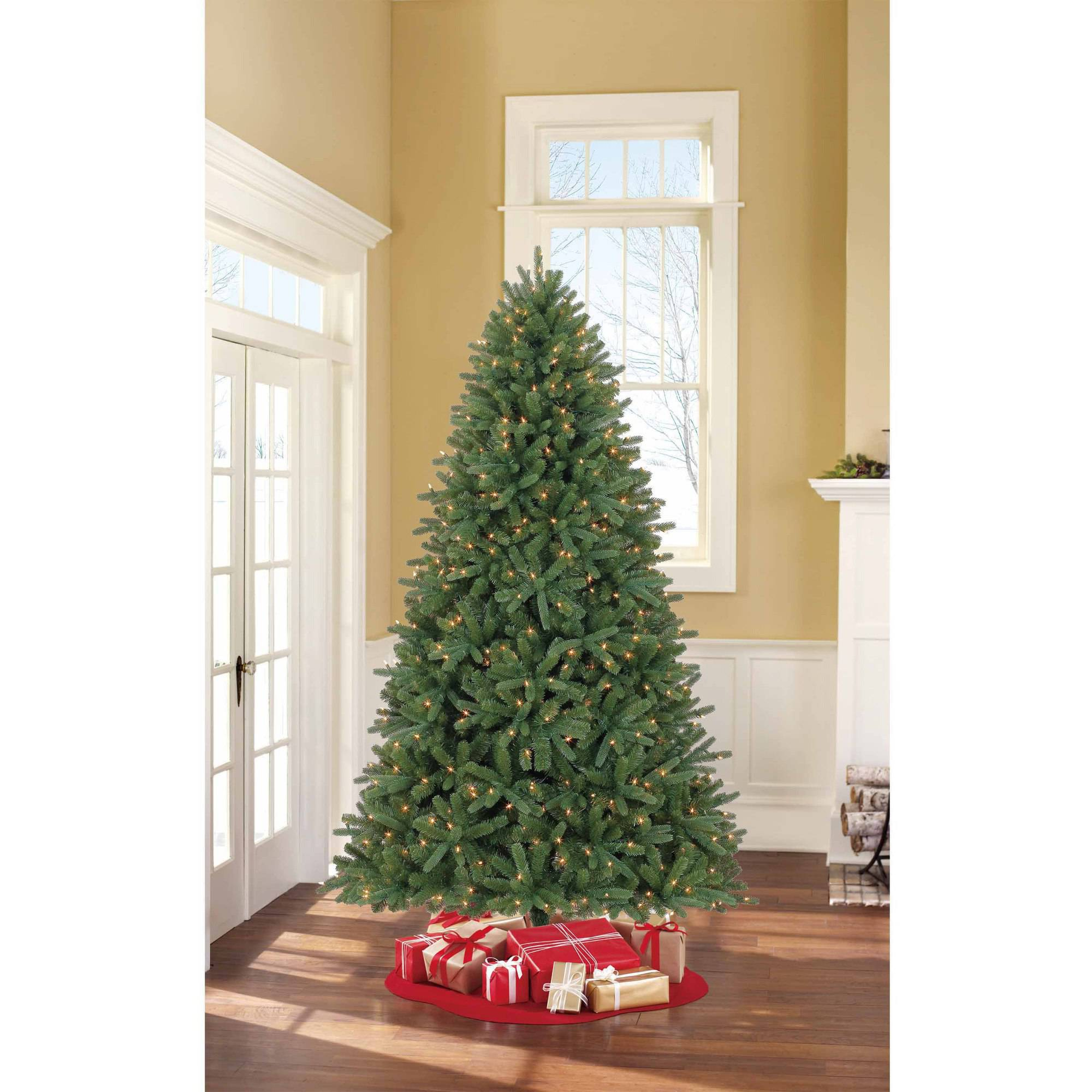 Holiday Time Pre-Lit 7.5' Hanford Spruce QuickSet Artificial ...