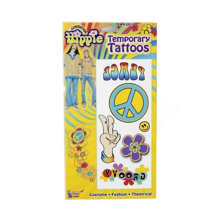 Hippie Temporary Tattoos 62016