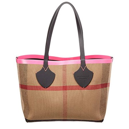 Burberry Women's Medium Giant Reversible Tote in Canvas and Leather Pink (Burberry Handbags For Women)