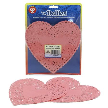 Colored Paper Doilies (Paper Heart Doilies, 6