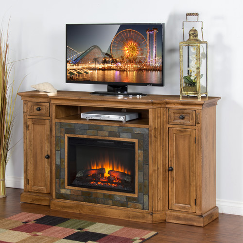Loon Peak Fresno TV Stand for TVs up to 70'' with Fireplace
