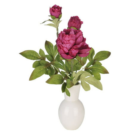 House of silk flowers inc artificial peony in ceramic vase house of silk flowers inc artificial peony in ceramic vase mightylinksfo