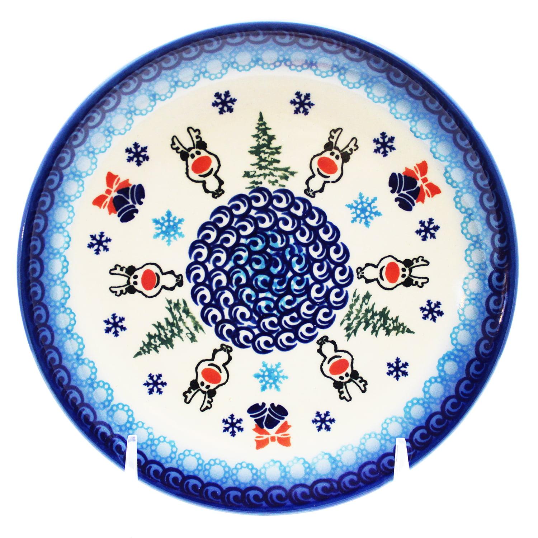 "Reindeer Details about  /Polish Pottery 6.75/"" Dessert Plate"