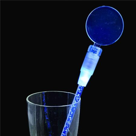 Blue Cocktail Party Light Up Swizzle Stick Drink Stirrer