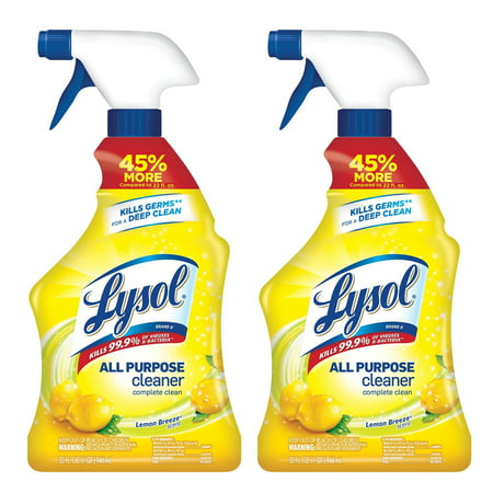 - Lysol All Purpose Cleaner Spray, Lemon Breeze, 64oz (2X32oz)