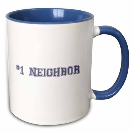 3dRose #1 Neighbor - Number One Neighbor - Gifts for worlds best and greatest neighbors in the neighborhood - Two Tone Blue Mug,