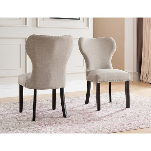 Red Barrel Studio Swanston Wing Back Upholstered Dining Chair (Set of 2)