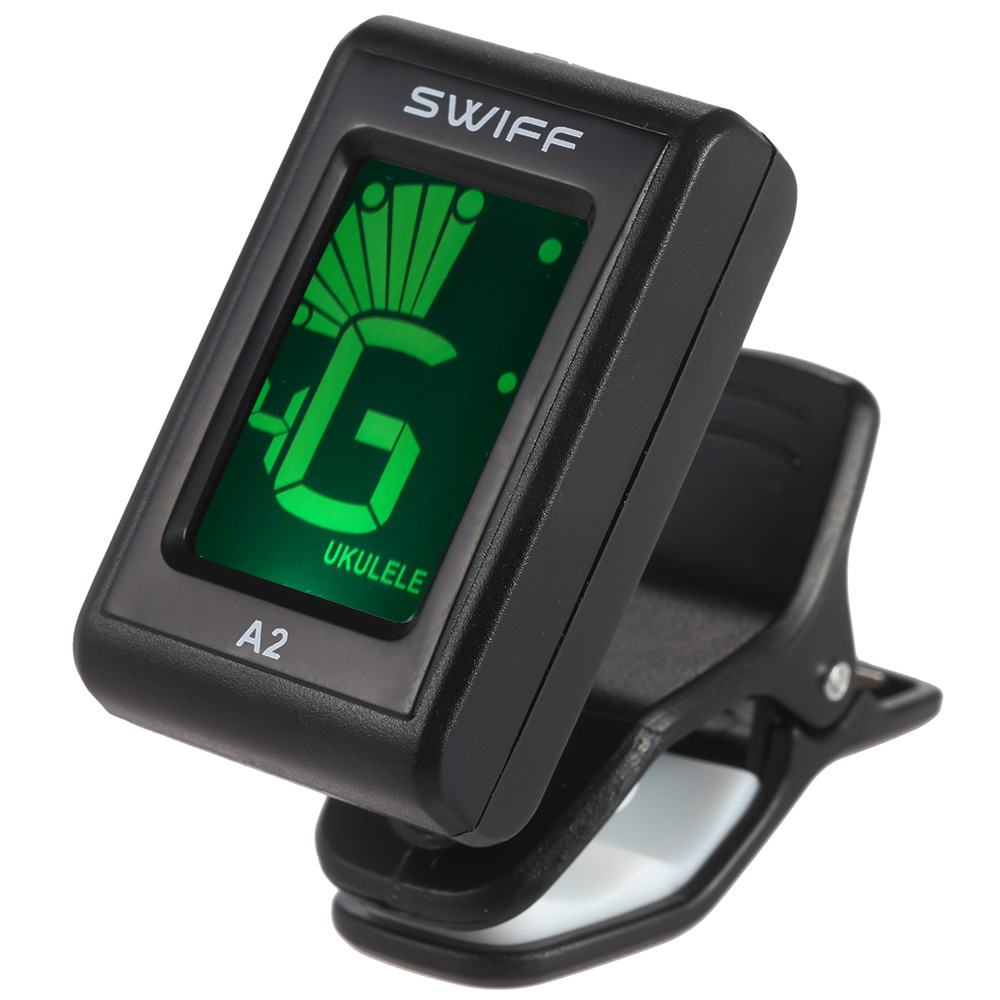 SWIFF A2 Automatic Digital Tone Tuner LCD Display Mini Clip-On Tuner Instrument  Accessories for Bass Acoustic Electric Guitar Chromatic Violin Ukulele