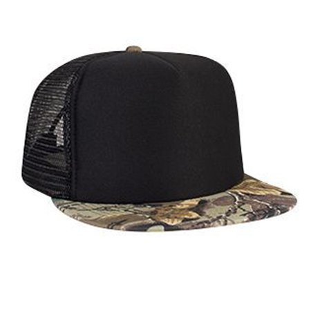 bfedbc7d971 Otto Cap Polyester Foam Front Camouflage Flat Visor High Crown Golf Style  Mesh Back Caps - Hat   Cap for Summer
