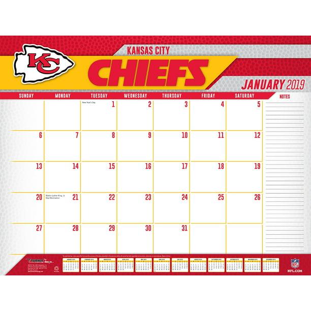 2019 22x17 Desk Calendar Kansas City Chiefs Walmart Com Walmart Com