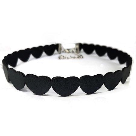 12eeaaf43235d Women Creative Suede Heart-shaped Choker Simple Exquisite Necklace ...