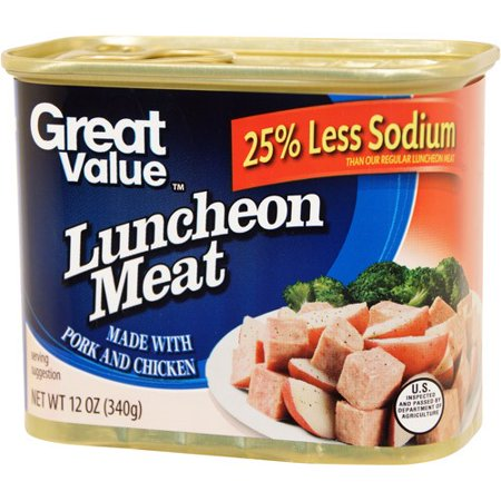 (3 Pack) Great Value Less Sodium Luncheon Meat, 12 oz (Meat Market 3)