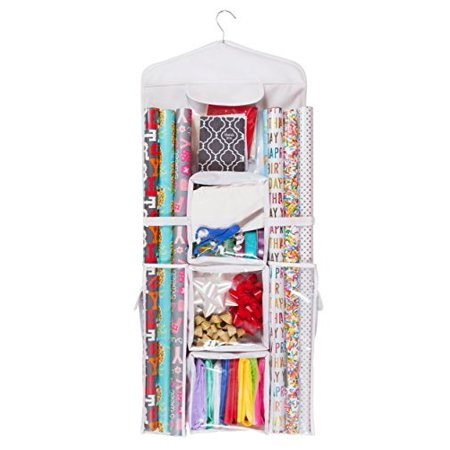 Gift Bag Organizer (Double Sided Hanging Gift Wrap & Bag Organizer)