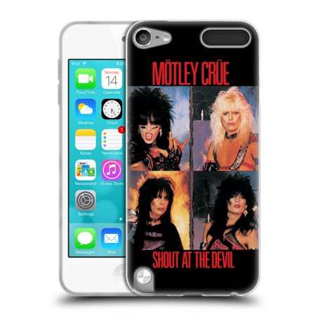 Head Case Designs Officially Licensed Motley Crue Albums Shout At The Devil Soft Gel Case Compatible with Apple iPod Touch 5G 5th Gen -  HTPCR-TOUCH5G-MOTLALB-SHO