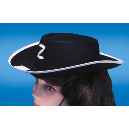 Star Power Halloween Zorro Cowboy Costume Hat, Black, One - Halloween Cowboy Hat